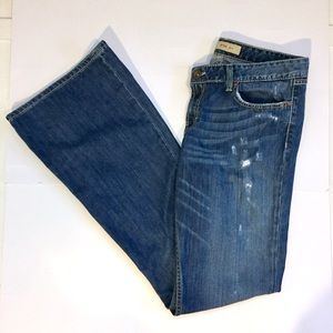 BKE Star Distressed Flare Jeans - Extra Long